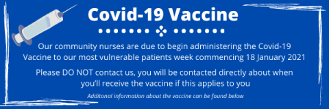Covid-19 vaccinations are happening